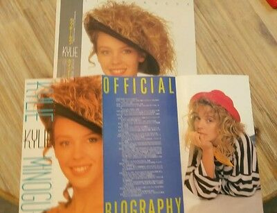 kylie minogue Japan Debut Vinyl Album + Rare Card Promo 1988 PWL