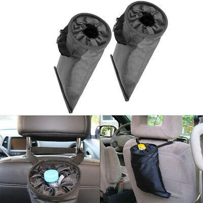 2pcs Car Trash Bags Vehicle Trash Can Washable Eco-friendly Car Garbage Pouch