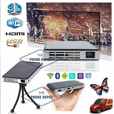 Mini Pocket Projector Android Portable Multimedia DLP WiFi 3D Home Theater HDMI