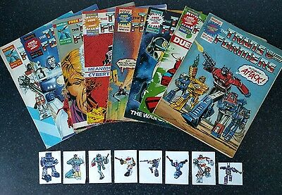 transformers comic UK G1 free gift 63 64 65 66 67 68 69 70 special teams cards