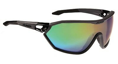 Alpina S-Way VLM+ Sportbrille Sonnenbrille, coal matt-black