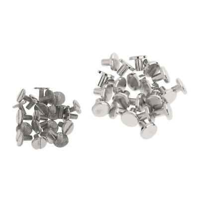 20 Sets Round Head Stud Screw Leather Craft Accessories Nail Rivet Button Decor