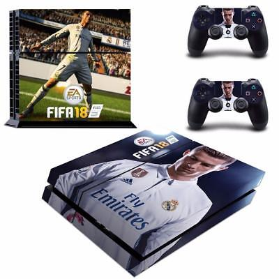 Fifa 18 FC Vinyl Skin Decals Stickers Covers for PS4 PlayStation 2 Controllers