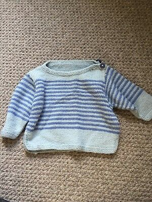 Hand Knitted Baby Boy Jumper