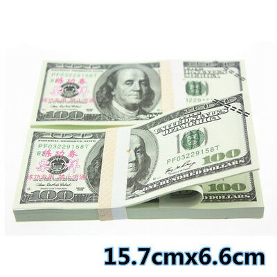 100x $100 Bills Best Novelty Movie Prop Play Fake Currency Joke