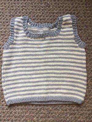 Hand Knitted Baby Boy Vest
