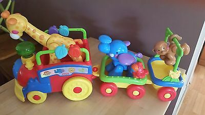 Fisher Price amazing animals sing & go choo choo train (as new condition)