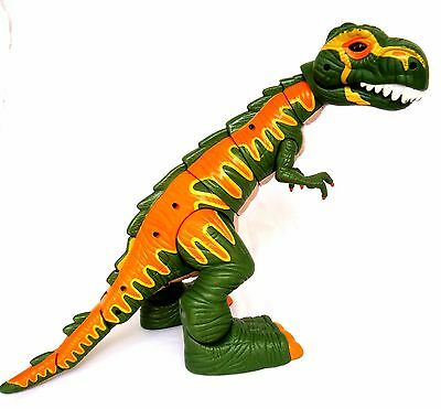 T-REX-2005 Fisher-Price IMAGINEXT Electronic Dinosaur-Roars-Moves-Eyes Light up!