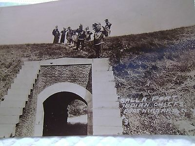 "Antique Photo Postcard 1900's ""SALLY PORT"" Indian Chiefs at Sally Fort Niagara"