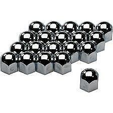 High Chrome Stainless Steel Wheel Nut Covers 17mm fits FIAT