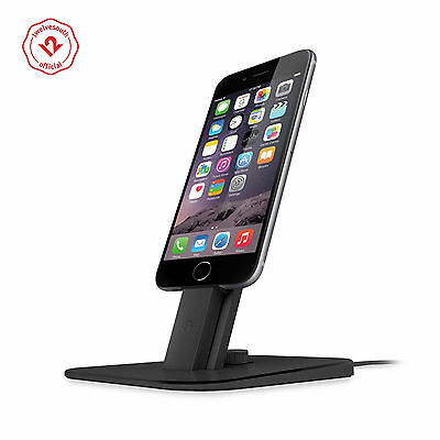 Twelve South HiRise Deluxe Charging Stand for Lighting/microUSB Devices, Black