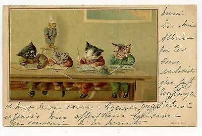 Illustrateur Louis Wain Thompson. Chat. Cat. Katze. Cats. Chats.