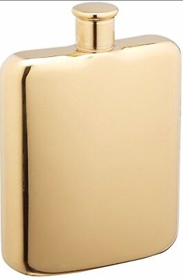 Oggi Gold Plated Stainless Steel Flask