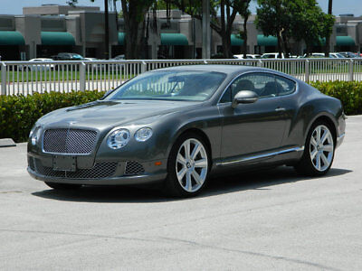 2012 Bentley Continental GT GT Coupe 2-Door 2012 Bentley Continental GT Grey Cream Leather A/C Seats Clean Carfax 12 cyl