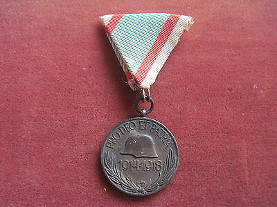"Ungarn Medaille""Pro Deo Et Patria 1914-1918"" am Band"