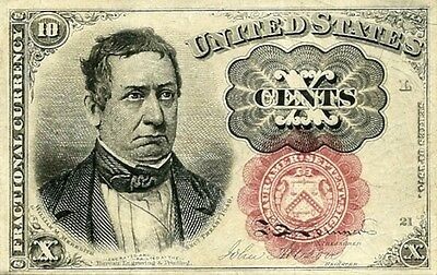 1874 - 1875 Fractional Currency 10 Cent Note - Lovely Gem Crisp New !