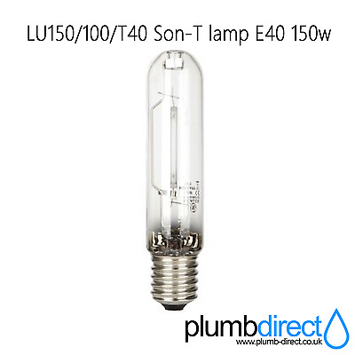 GE Lucalox LU150//100//T40 Son-T lamp E40 150w Ext ign *NEW*