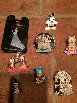 Lot Of 7 Disney Pins Many Limited Edition Retired Pins
