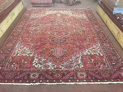 "Hand Knotted Persian TABRIZ- Heriz Antique Look Rug Carpet 10 x 13 ,9'7""x12'10"""