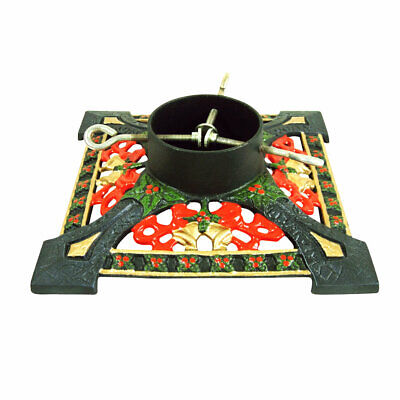 """Gardman 11"""" Cast Iron Square Christmas Tree Stand, For Trees Up to 6ft / 1.8m"""
