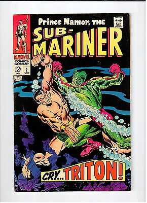 Marvel Comics Prince Namor SUB-MARINER #2 June 1968 vintage comic FN- condition