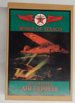 Wings of Texaco 1929 LOCKHEED AIR EXPRESS 1st In The Series Coin Bank - NIP