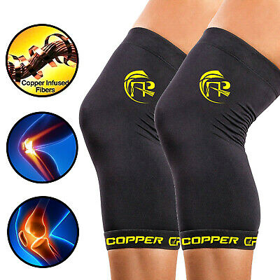Copper CFR Knee Support Brace Copper Fit Knee Compression Sleeve Kneecap Sports