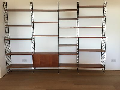 Vintage Mid Century Wall Unit by Nisse Strinning for String in teak