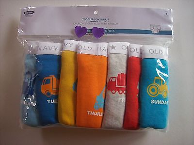 Old Navy Underwear Underpants Boys 7 Printed Briefs Pk Sz 2T-3T 4T-5Toddler NIP