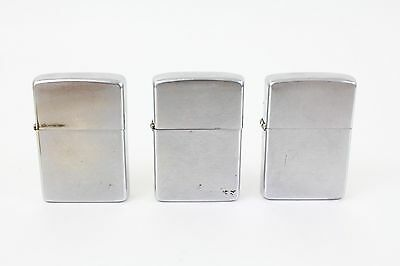 Lot of 3 Used Vintage Zippo Lighters
