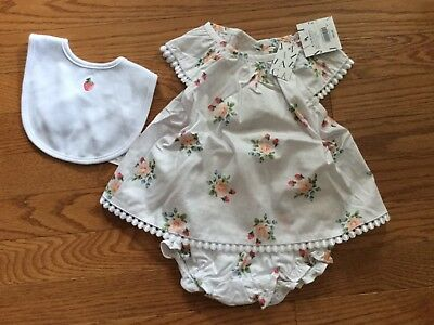 Janie And Jack Girl's NWT Three Piece Set Outfit Size 6-12 Months