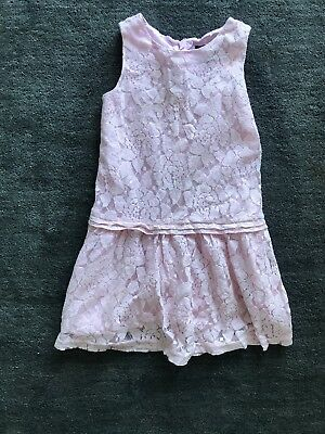 $45 Gap Kids Girls Pink Lace Dress Small 6-7