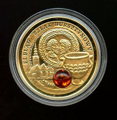 """Nuie Island ~ 2009 ~ $5 Five Dollar ~ Gold ~ """"amber Route"""" ~ Proof ~ 2000 Minted"""