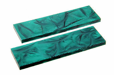 Knife Making Pearl IMOP Acrylic scales Pair Emerald Green Pearl  NOW