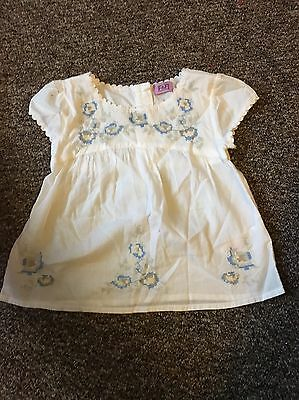 F&F Girls Smock Style Top 12-18 Months
