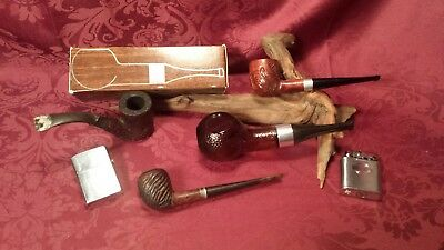 Vintage Lot of 3 Smoking Pipes and Lots More!!!