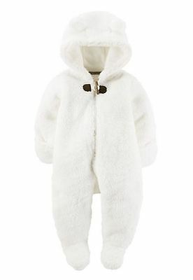 Carter's Baby Girl Warm and Cozy Hooded Sherpa Bunting, sz 9 months