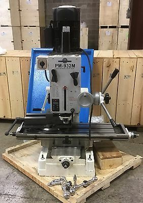 "PM-932M 9x32"" VERTICAL MILLING MACHINE BASIC W/5"" VISE AND CHIP TRAY DISCOUNTED!"