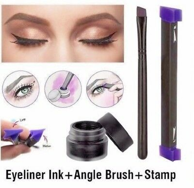 Vamp Stamp Easy Cat Eye Wing Eyeliner Stamp Eyeliner Ink VERGE Angle Brush Too