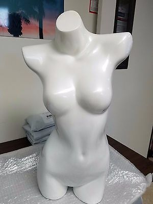 Fiberglass Female Mannequin Manikin Dress Form-Display Torso Half-Body PEARL