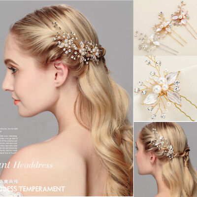Wedding Bridal Crystal Clips Hair Pins  Comb Bridesmaid Hair Accessories Jewelry