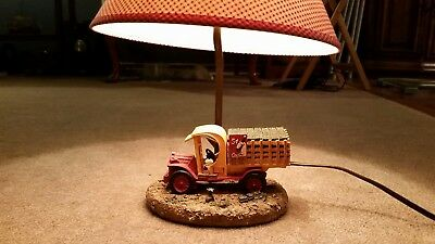 """Collectible- """"The Coca Cola Company"""" Vintage Delivery Truck Table Lamp -2000"""