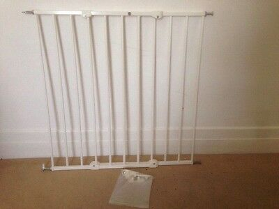 Best Mothercare Push & Shut Extending Stair Gate Wall Fit Safety for Kids & Pets