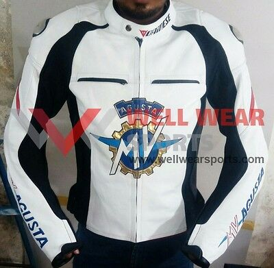 Wws Mv Agusta Dainese Motorbike Leather Jacket All Size Available