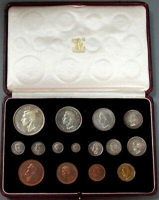 1937 Great Britain Proof Specimen 15 Coin King George Vi Coronation Original Set