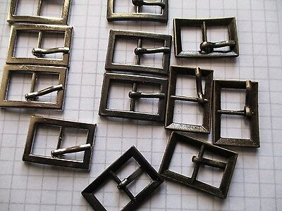 Small Plain Buckles to fit 10mm straps, 3 colours  for shoes, dolls, toys, cases