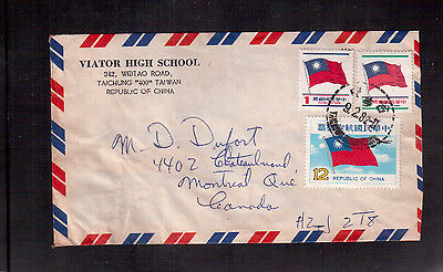 Taiwan, Republic Of China 1982 Cover To Canada !!