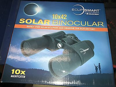 10x42 Solar Eclipse Binoculars Celestron EclipSmart 10x Magnification ISO-12312-