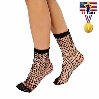 Women Girl Sheer Fashion Sexy Stocking Hosiery Mesh Black Fishnet Ankle Socks
