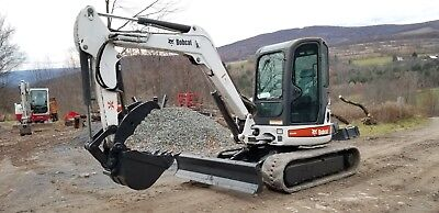 Bobcat 337 Excavator Cab A/c Hydraulic Thumb Ready 2 Work Pa We Ship Nationwide!